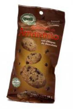 Galletas de amaranto Quali con chispas de chocolate 44 g